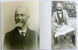 à gauche : Jean-Joseph Picoré en 1909  à droite le grand-père avec son petit-fils Jean Monné